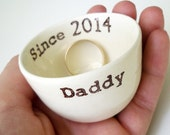 handmade CUSTOM DAD GIFT father's day handmade daddy text ceramic mens ring dish for dad to be first father's day or father of the bride
