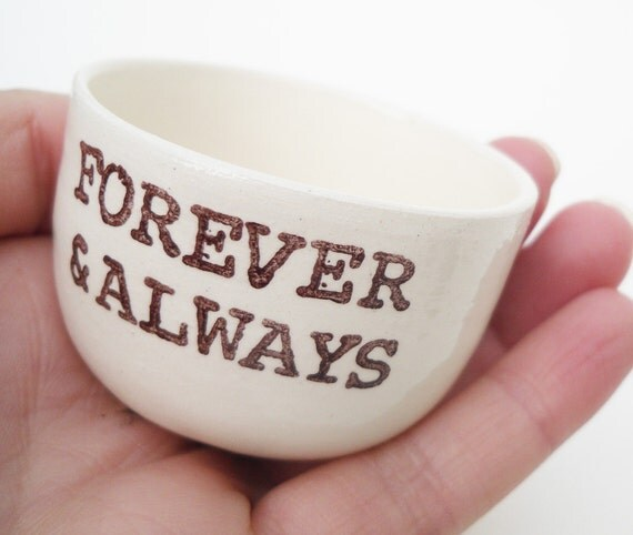 christmas gift engagement gift FOREVER AND ALWAYS wedding ring holder ring ceremony dish ring pillow wedding gift engagement