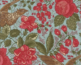 """Winterlude - Paisley Flourish in Frost by 3 Sisters for Moda Fabrics - 28"""" Remnant"""