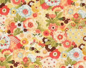 Lulu - Watercolor Garden in Sunshine by Chez Moi for Moda Fabrics