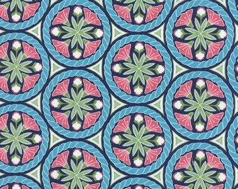 Pedal Pushers - Floral Crest in Night by Lauren & Jessi Jung for Moda Fabrics