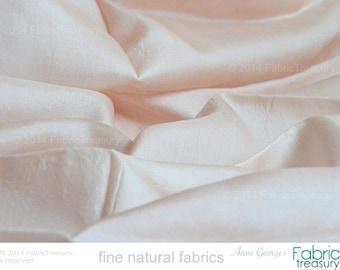 "Ahimsa Silk. Peace Silk. Pure silk Handwoven Slow Fashion Fabric Natural organic, fairtrade. 42"" / 106 cm W. Fig Gelato color."