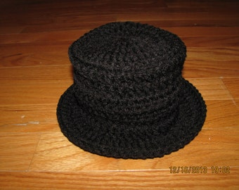 Tuxedo top hat crochet newborn size photo prop / costume