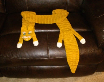 Cat scarf - crocheted