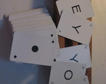Complete Vintage Card Game for Embellishment or Crafting