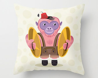 """The Monkey Boy - Cushion Cover / Throw Pillow (16"""" x 16"""") by Oliver Lake"""