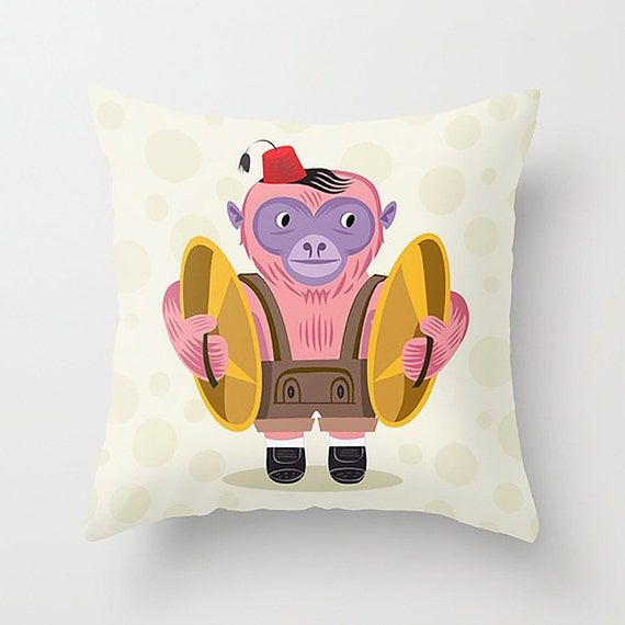 "The Monkey Boy - Cushion Cover / Throw Pillow (16"" x 16"") by Oliver Lake"
