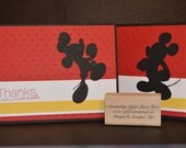 CUSTOM ORDER for Gabriella Aitken: JUMPING Mickey Mouse Hand-Made Thank You Card