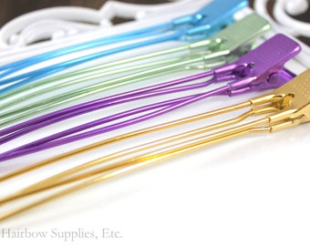 5 JUMBO Metal Salon Clips to Hold Ribbon - To Make Hairbows - Hairbow Supplies, Etc.