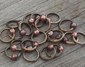 Brass Ring Seamless Stitch Markers (1 marker)