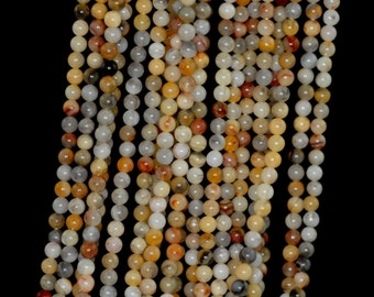 """2mm Crazy Lace Agate Round beads full strand 16"""" Loose Beads P142653"""