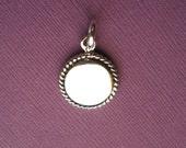 Sterling Silver  Blank Round Engraveable Medallion Pendant