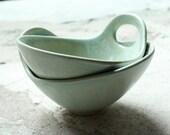 Arnett-Yang Wedding - WEDDING REGISTRY - Soft Seafoam Green with Handle - Noodle Bowl