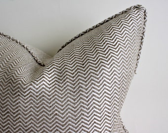 High End Jute and Natural Woven Zig Zag Decorative Pillow Covers, Cushion Covers, Throw Pillows