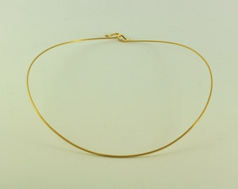 18K Solid Gold Wire Necklace, 050-31