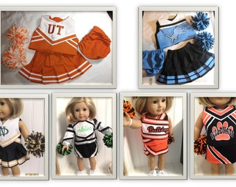 Design Your Own Cheerleading - Embroidered American Girl Doll Cheer Outfit