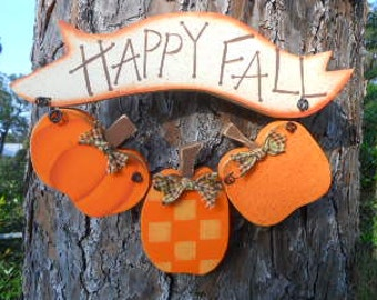 FALL, Pumpkin, Happy Fall Trio, Made To Order