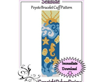 Bead Pattern Peyote(Bracelet Cuff)-Seaside