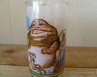 1983 Jabba the Hut Star Wars Return of the Jedi Burger King Glass