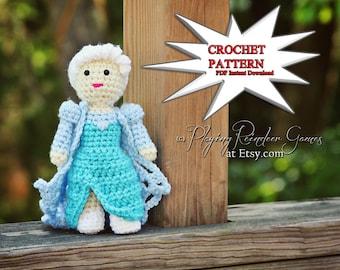 PATTERN Crochet Frozen Elsa Amigurumi Doll