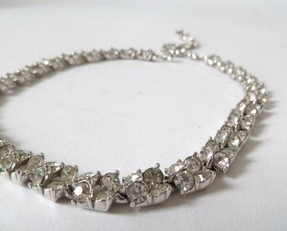 Vintage rhinestone choker bogoff rhinestone necklace for Bogoff vintage costume jewelry