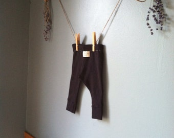 Organic Black baby leggings  - Eco Friendly Leggings//black leggings//organic baby//toddler leggings