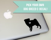 Dog Breed Decal, laptop decal, tablet decal, dog breed, dog, dog lover