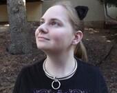 Midnight Black Microfiber Kitty Ears