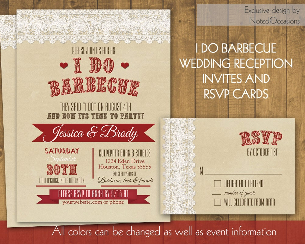 I Do Bbq Wedding Invitations 035 - I Do Bbq Wedding Invitations