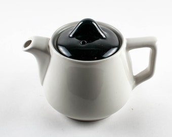 Vintage Black and White Individual Teapot Hall 251 Made in USA