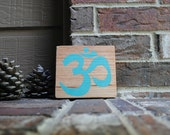 OM - Yoga Symbol - Painted Sign made from Reclaimed Wood