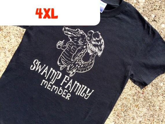 4XL gator BLACK t-shirt