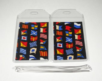 SALE Luggage Tags Set of 2 Boat Flags