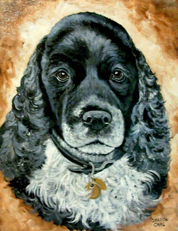 Pet Portrait Hand Painted 11 x 14 Canvas Painting of Your Dog or Cat or Horse Pet Lover Pets Custom Personalized