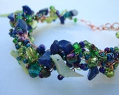 Lake Birds Mag Bracelet With Gold Wire