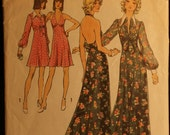 Simplicity 5561 Misses Halter Dress in 2 Length and Jacket Vintage 70s Sewing Pattern Sz 10