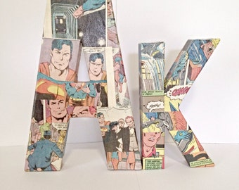 Mix and Match Comic Letter, Pop Art, Custom Made--Pick 2 Letters