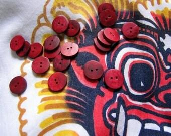 Dewi Sita 15mm Burgundy Bone Buttons 10pcs