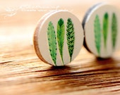 20% off -Unique  3D Embossed 16mm Round Handmade Wood Cut Cabochon to make Rings, Earrings, Bobby pin,Necklaces, Bracelets-(WG-2)