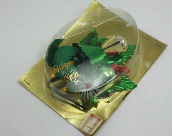 Vintage Christmas Holiday Corsage Brooch Pin Package Decor Original Box NOS
