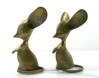 Vintage Brass Mice