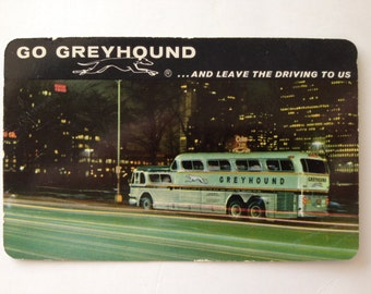 1963 Greyhound Bus Pocket Calendar Scenicruiser