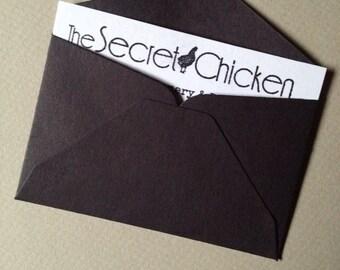 """25 Black Mini Envelopes Size 2 1/4"""" x 3 1/2"""""""