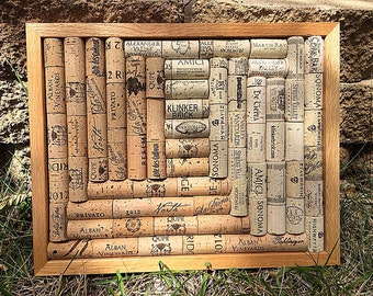 Wine cork art frame/trivet