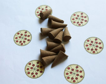 Pizza Scented Cone Incense - Incense Cones - Aromatherapy - Aroma - Essense - Home Decor - Gift for Adults