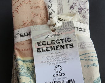 Tim Holtz Phase 2 Eclectic Elements Fat Eighth Bundle - 13 Pieces