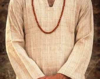 Special Traditionally Handmade Raw Silk Shirt - Small size- for men and women :)