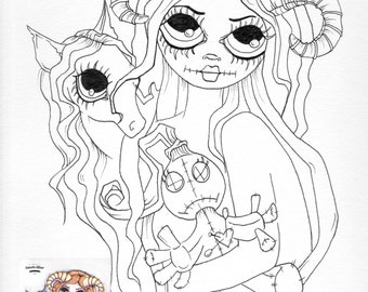 gothic fairy coloring pages - goth coloring pages for adults coloring pages