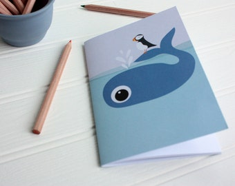 SALE - Whale Notebook Jotter - Whale Jotter - To Do List Notebook - Notebook for child - Gift for Whale Lover - Gift for child - Planner