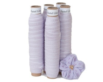 """Pastel Lilac - Fold Over Elastic - Solid FOE - 5/8"""" Wide - 5 Wholesale Yards"""